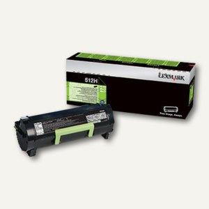 Lexmark Rückgabe-Tonerkassette 512H, ca. 5.000 Seiten, schwarz, 51F2H00