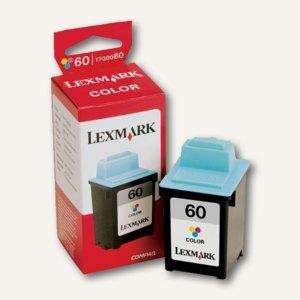 Lexmark Tintenpatrone Nr. 60, 21 ml, ca. 700 Seiten, 3-farbig, 17G0060E