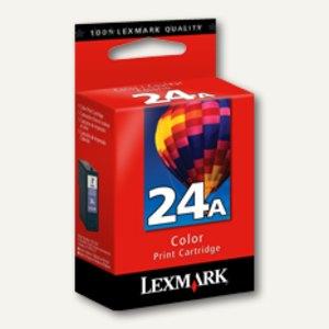 Lexmark Tintenpatrone Nr. 24A, ca. 185 Seiten, 3-farbig, 18C1624E