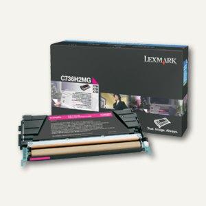 Lexmark Tonerkassette C736, X736, X738, ca. 10.000 Seiten, magenta, C736H2MG