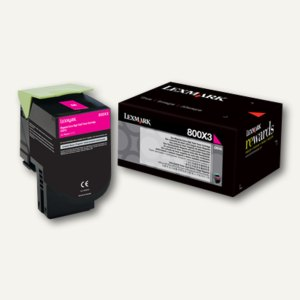 Lexmark Tonerkassette 800X3, ca. 4.000 Seiten, magenta, 80C0X30