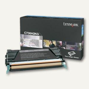Lexmark Tonerkassette C736, X736, X738, ca. 12.000 Seiten, schwarz, C736H2KG