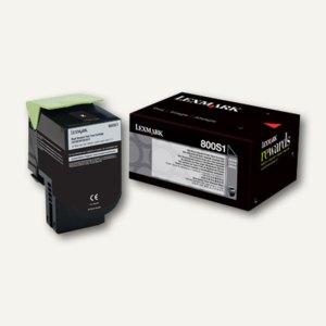 Lexmark Tonerkassette 800S1, ca. 2.500 Seiten, schwarz, 80C0S10