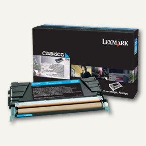 Lexmark Tonerkassette C748, ca. 10.000 Seiten, cyan, C748H2CG