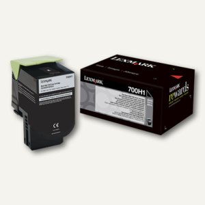Lexmark Tonerkassette 700H1, ca. 4.000 Seiten, schwarz, 70C0H10