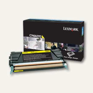 Lexmark Tonerkassette C746, C748, ca. 7.000 Seiten, gelb, C746A2YG