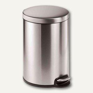 Durable Tretabfalleimer Edelstahl - 20 Liter, rund, 292 x 455 mm, silber,3402-23