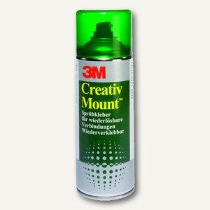 3M Sprühkleber Creativ Mount, ablösbar, transparenter Auftrag, 400 ml, 52020