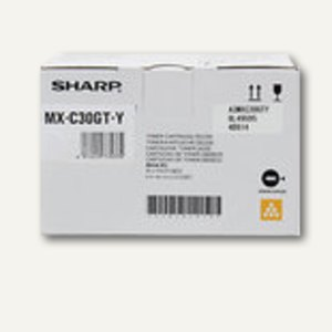 Sharp Toner, ca. 6.000 Seiten, gelb, MXC30GTY