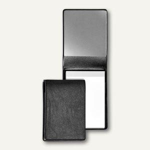 Schreibmappe DIN A7, PVC-Folie, m. Block und Taschen, schwarz, 5 St., 5270080