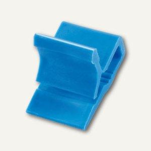 Kunststoff-Briefklemme Zacko 2, für 2-20 Blatt, 12x18 mm, blau, 120St., 2855-30