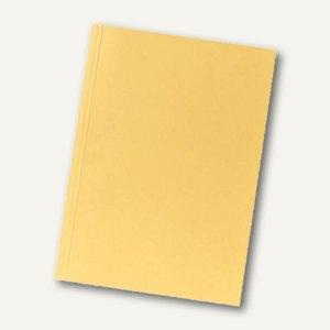 Falken Aktendeckel, DIN A4, (B)230 x (H)318 mm, Manila-RC-Karton, gelb, 80004146