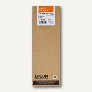 Epson Tintenpatrone T636A00 UltraChrome HDR, 700 ml, orange, C13T636A00