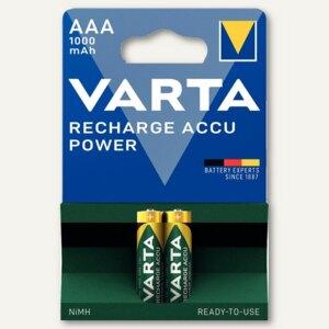 "Varta NiMH Akku ""Rechargeable Accu"", Micro AAA, 1.000 mAh, 2 Stück, 5703301402"