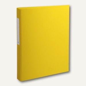 Exacompta Ringbuch DIN A4 mit Rückenetikett, 2-Ringe Ø 25 mm, PP, gelb, 54386E