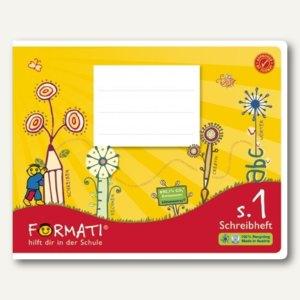 Formati S.1 Schreibheft DIN A5 quer, 9/9/9mm liniert, 20 Blatt, 10St., 060532082
