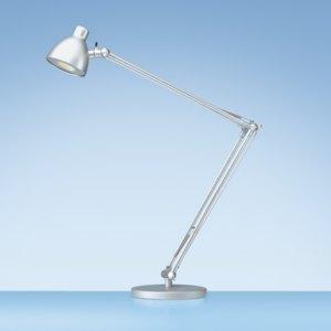 Styro Tischleuchte LED Valencia, große Ausladung (62cm), silber, 5010618