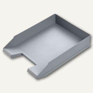 Helit Briefablage ECONOMY, DIN A4/C4, Kunststoff, mittelgrau, 5 Stück, H2361687
