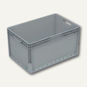 Euronormkorb 66 Liter, 60 x 40 x 32 cm, geschlossen, grau, 2 Stück, 604032V-010