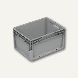 Euronormkorb 20 Liter, 40 x 30 x 22 cm, geschlossen, grau, 3 Stück, 403022V-010