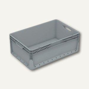 Euronormkorb 46 Liter, 60 x 40 x 22 cm, geschlossen, grau, 2 Stück, 604022V-010