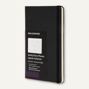 Moleskine Wochenkalender Horizontal - A6, 14 x 9 cm, 1 Woche/2 Seiten, 893298