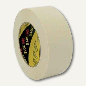 3M Krepp-Klebeband 301E, Industrie Papierabdeckband 100 °C, 48 mm x 50 m,3014850