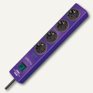 Überspannungsschutz-Steckdosenleiste hugo!, 4-fach, Kabel 2 m, violett, 11506103
