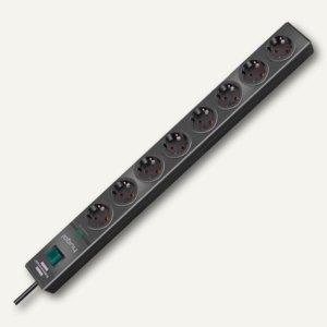 Überspannungsschutz-Steckdosenleiste hugo!, 8-fach, Kabel 2 m, anthrazit, 115061