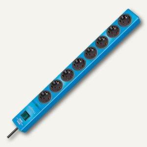 Überspannungsschutz-Steckdosenleiste hugo!, 8-fach, Kabel 2 m, blau, 1150610388