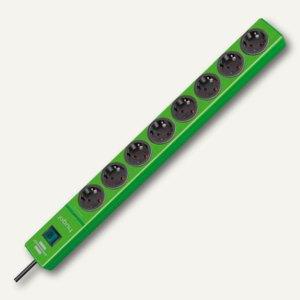 Überspannungsschutz-Steckdosenleiste hugo!, 8-fach, Kabel 2 m, grün, 1150610398