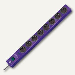 Überspannungsschutz-Steckdosenleiste hugo!, 8-fach, Kabel 2 m, violett, 11506103