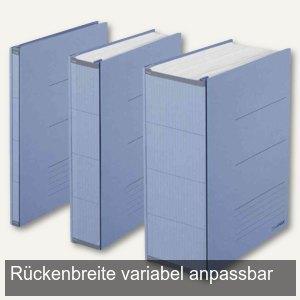 Archivierungsordner ZEROMAX-A4, Breite anpassbar, Recycl.papier, 800 Blatt, blau