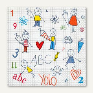 "Paper + Design Motivservietten ""Let's start school"" - 33 x 33 cm, 20 St., 21853"