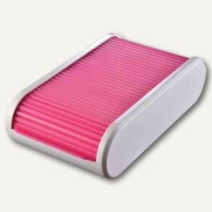 Helit Visitenkartenbox Colours - A8, 136 x 240 x 67 mm, grau/rosa, H6218026