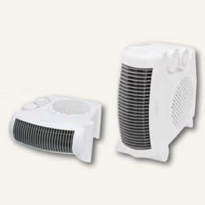 Heizlüfter / Ventilator, 2 Standmöglichkeiten, 248x120x250 mm, weiß, 271672