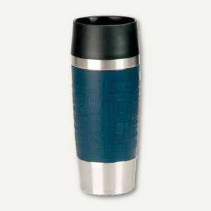 Emsa Isolierbecher TRAVEL MUG, 0.36 l, Ø81 mm, H 201 mm, blau, 513357
