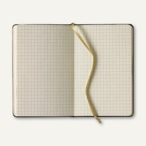 officio Notizbuch Soft Flex, 90 x 140 mm, 192 Seiten, kariert, schwarz, 616007