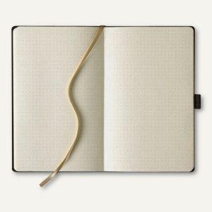 officio Notizbuch Matra, 130 x 210 mm, 240 Seiten, punktiert, schwarz, 616085