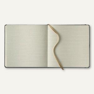 officio Notizbuch, 175 x 175 mm, 240 Seiten, Soft Flex, kariert, schwarz, 616043