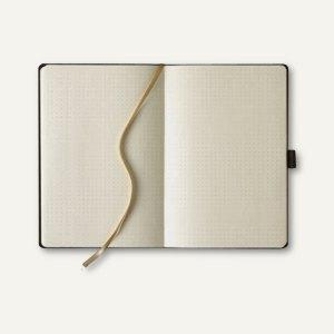 Notizbuch, 190 x 250 mm, 240 Seiten, punktiert, inkl. Stift, schwarz, 616228