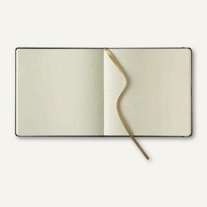 officio Notizbuch, 175 x 175 mm, 240 Seiten, Kalbsleder, blanko, rot, 616234