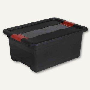 """Aufbewahrungsbox """"Box Solido"""" - 12 Liter, 395 x 295 x 175 mm, graphite/rot, 1084"""
