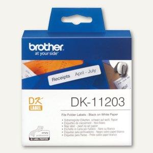 Brother Ordnerregister-Etiketten - 17 x 87 mm, weiß, 300St., DK11203