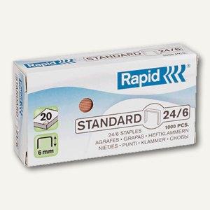 Rapid Heftklammern 24/6, verzinkt, 1.000 Stück, 20710602