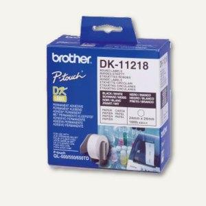 Brother Etiketten - (Ø)24 mm, rund, Papier, weiß, 1.000 Stück, DK11218