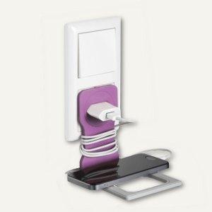 VARICOLOR Handy-/Smartphone-Steckdosenhalter, 84 x 5 x 134 mm, rosa, 773508