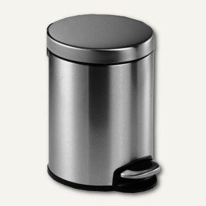 Durable Tretabfalleimer Edelstahl - 5 Liter, rund, 205 x 290 mm, silber, 340023