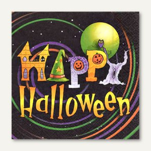 Motivservietten Happy Halloween - 33 x 33 cm