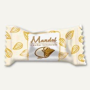 Hellma Mandeln in weißer Schokolade, einzeln verpackt, 360 Stück, 70101186